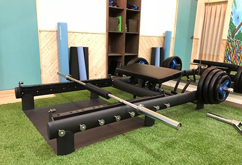 オリジナルのトレーニングマシンを開発