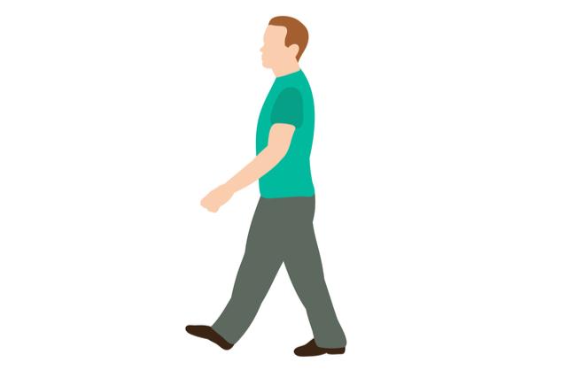 歩きながら行なうドローイン