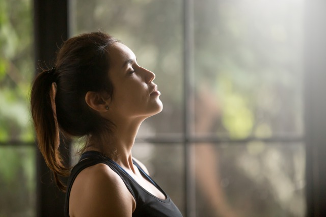 呼吸を意識する