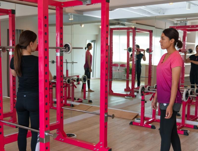 女性専用、トレーナーも全員女性