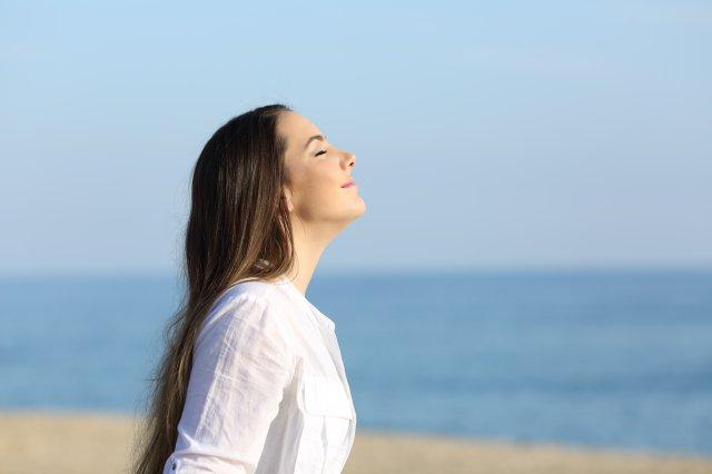 深く呼吸をして免疫力を上げる