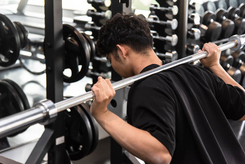 バーベルスクワット|脊柱起立筋・大臀筋・大腿四頭筋・ハムストリングス・内転筋