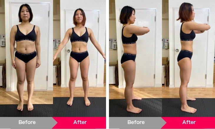 マイナス5.6kgの減量に成功した女性の写真