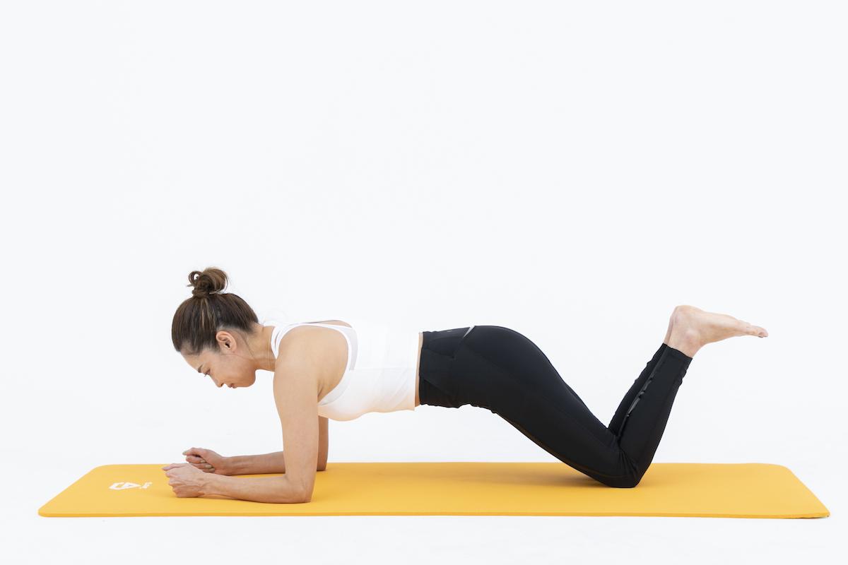 膝つきプランクのやり方 腕や腰にかかる負担を軽減!初心者におすすめ